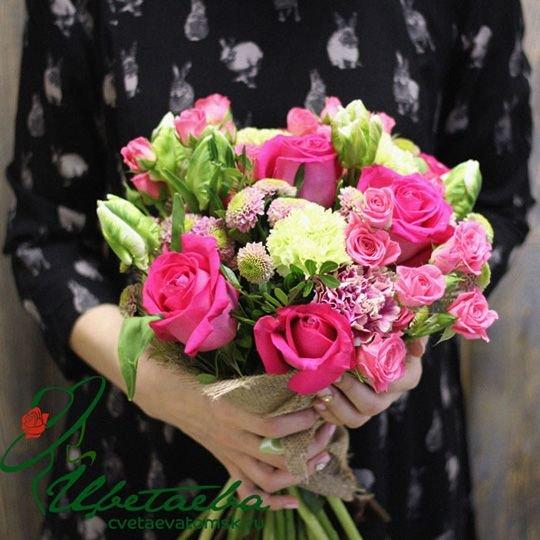 Букет «Вдохновение» с хризантемами