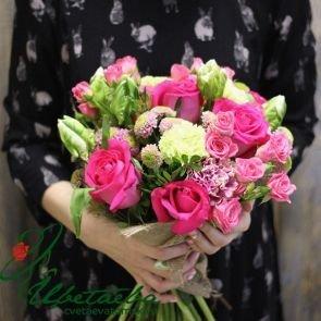 Букет «Вдохновение» с хризантемами c доставкой в Томске