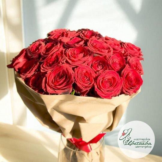 Букет из 25 стойких элитных роз Эквадор