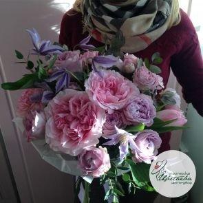 Букет «Элизабет» с пионовидными розами