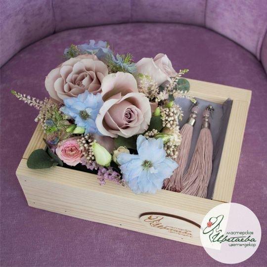 Подарочный набор с цветами