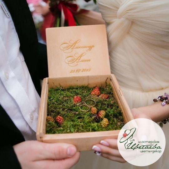 Коробочка для свадебных колец