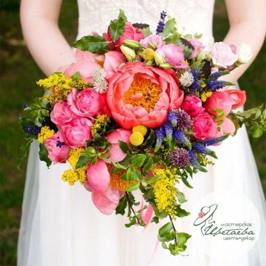 Красочный букет для невесты