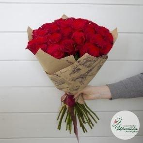 Букет из 31 красной розы Эквадор