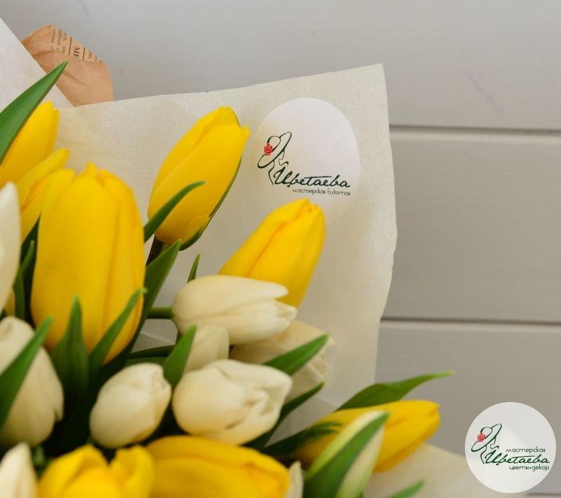 Букет из 101 тюльпана макро