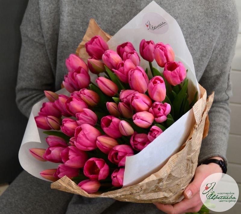 Букет из любого количества тюльпанов классические