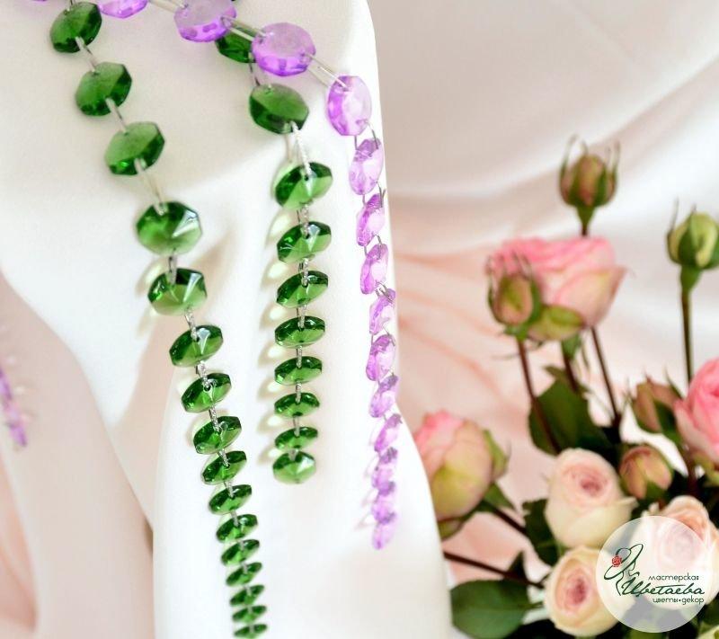 стеклярус цветной зеленый
