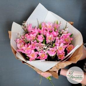 Букет из любого количества тюльпанов сортовые