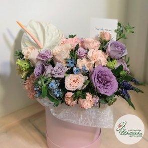 Шляпная коробка «Романтичная» c доставкой в Томске