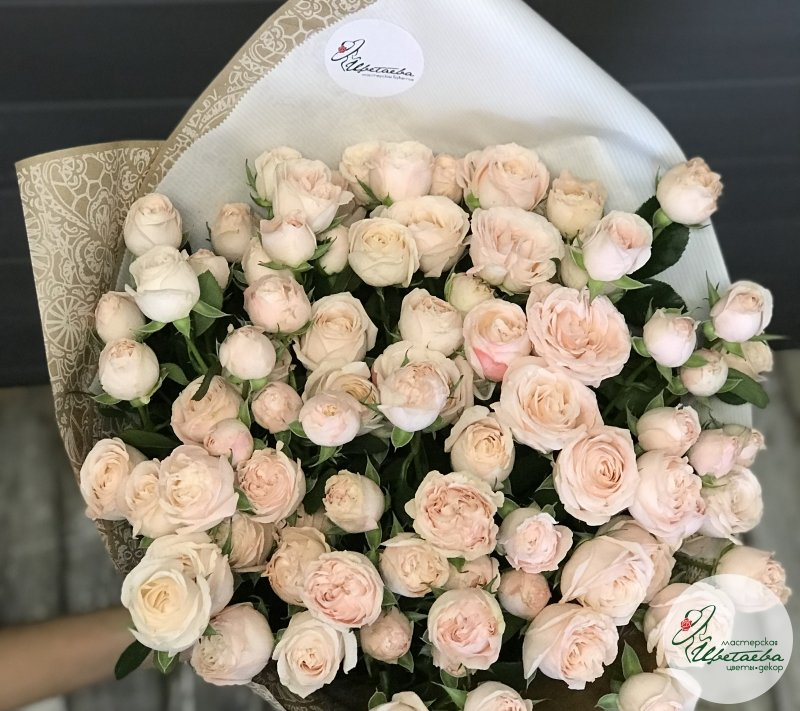 макро букетик из роз