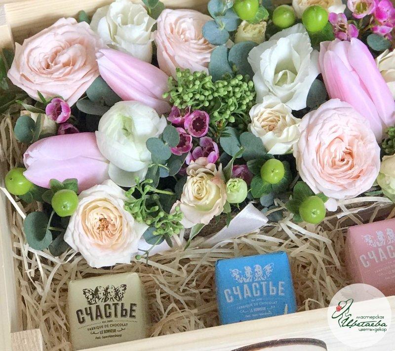 «Нежная весна» с конфетами Счастье Спб