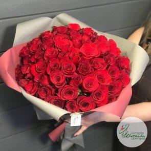 Букет из 51 элитной красной розы Эквадор