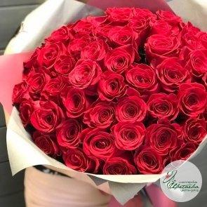 Дополнительные фотографии к товару - Букет из 51 элитной красной розы Эквадор