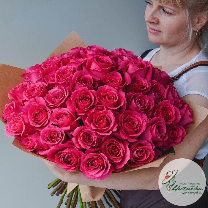 Букет из 75 элитных роз Эквадор (цвет на выбор)