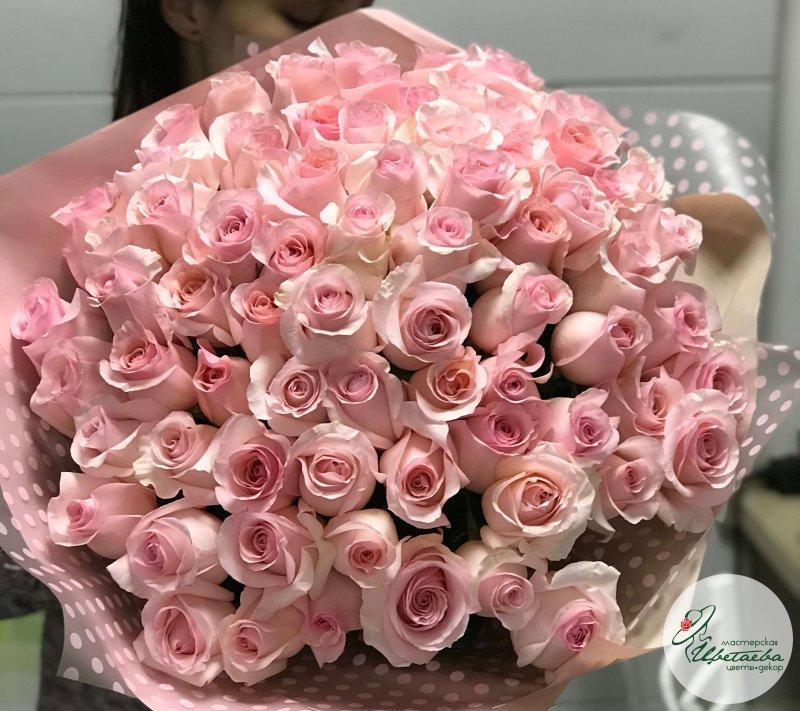 Букет из 101 розы 90 см