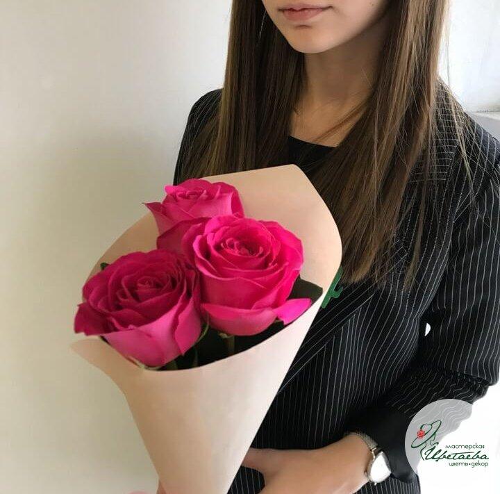 3 розы в крафте