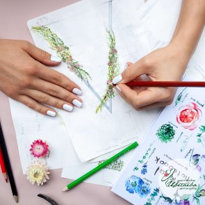 Цветочный блокнот c доставкой в Томске
