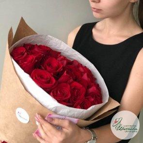 Большой букет из красных роз - 51 шт
