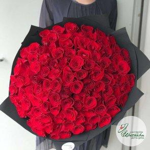 Букет из 101 розы 50 см