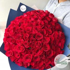 Букет из 101 розы 60 см