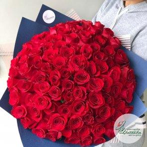 101 голландская роза c доставкой в Томске