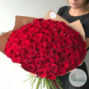 101 роза 50 см c доставкой в Томске