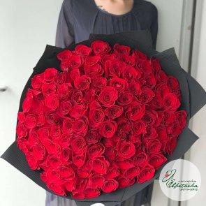 101 роза 60 см c доставкой в Томске