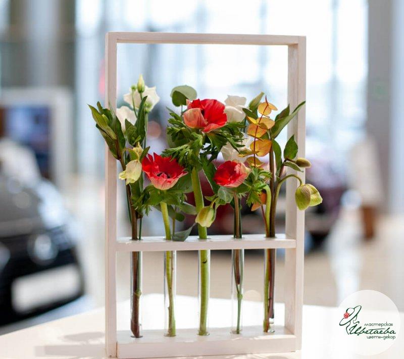 Композиция цветочный сад