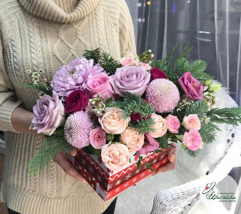 Композиции из цветов на новый год
