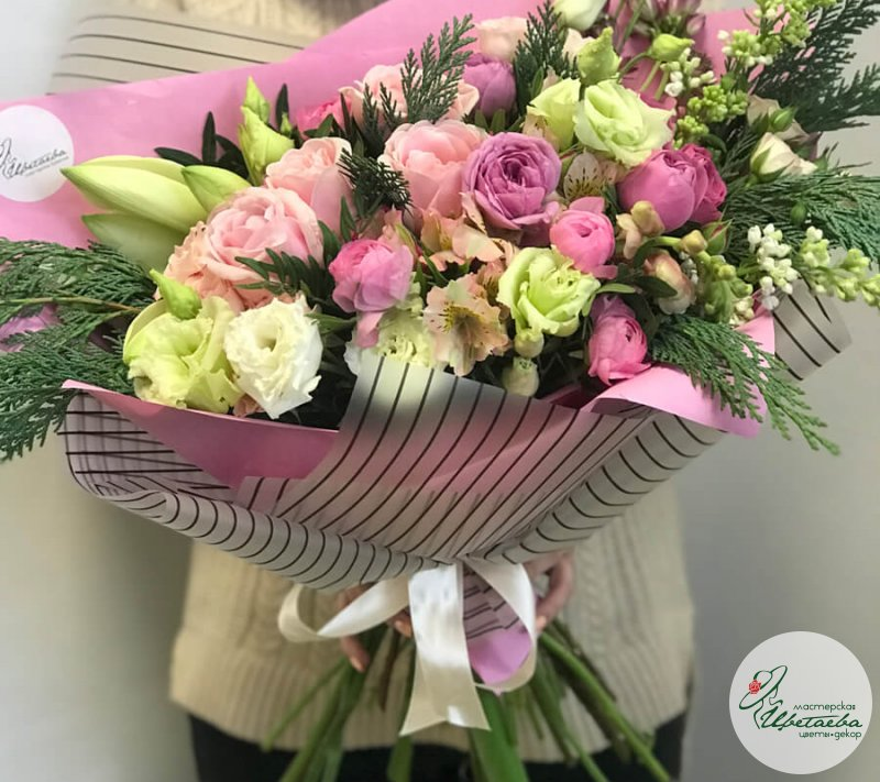Зимний букет из цветов