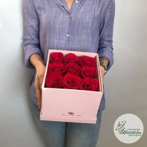 Дополнительные фотографии к товару - Коробочка с клубникой и розами