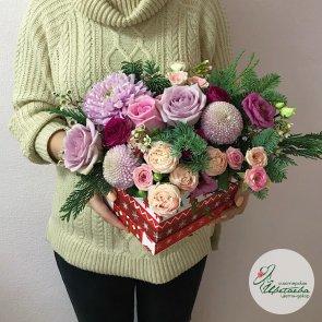Композиции из цветов на новый год c доставкой в Томске
