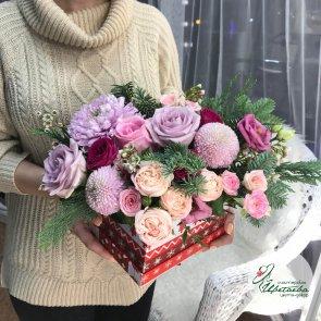 Дополнительные фотографии к товару - Композиции из цветов на новый год