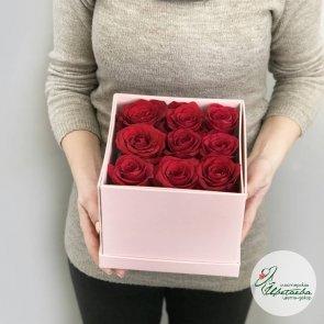 Дополнительные фотографии к товару - Розы в коробке с конфетами