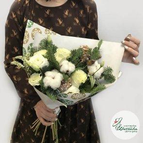 Букет новогодний из пихты c доставкой в Томске