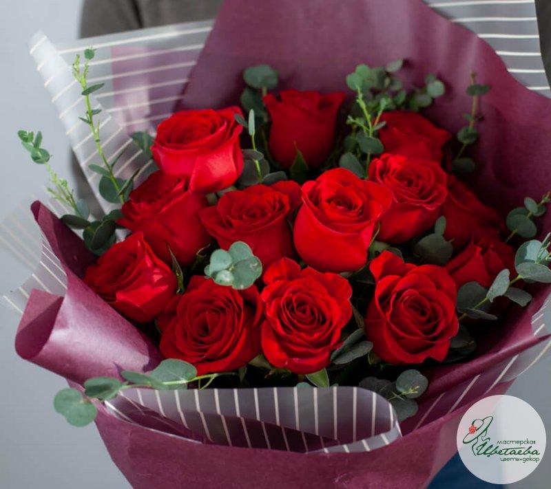 Букет цветов для девушки «14 февраля»