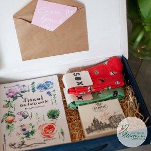 Стильный блокнот, конфеты: «Счастье»