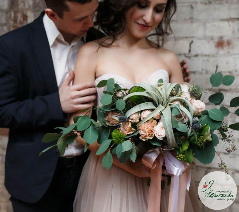 Букет невесты «Перья»
