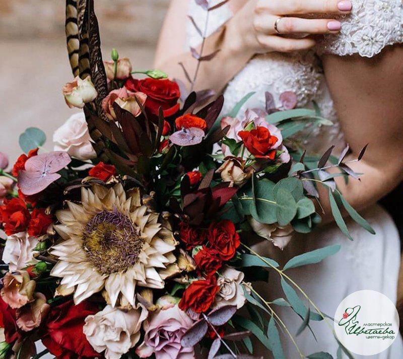 Букеты невесты «Бохо»