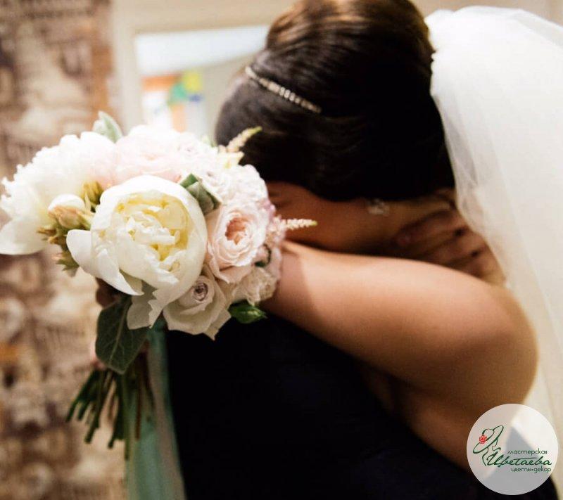 Пастельный букет невесты