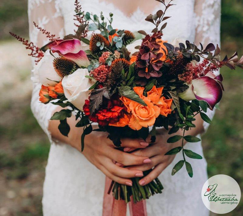 Свадебный букет «Оранж»