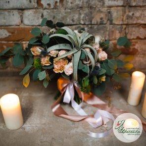 Изумрудный букет невесты